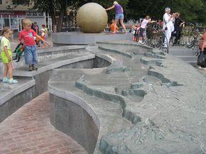 Скульптуры набережной Бердянска