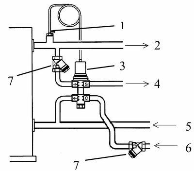 Схема установки твердотопливного котла.