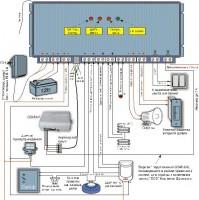 Схема прибора сигнализации Домовой