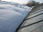 Не отапливаемая стеклянная теплица & снег = crash.