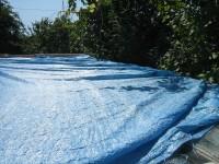 Затенение полипропиленовым теном зимнего сада